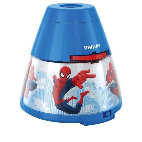 Philips 71769/40/16 - Detská stolná lampa a projektor DISNEY SPIDER-MAN 1xLED/0,1W + 3xLED/0,3W/4,5 V