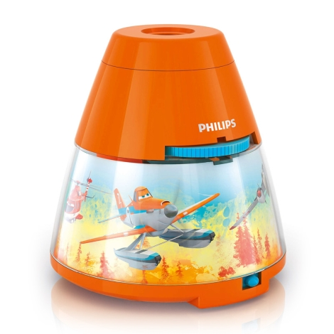 Philips 71769/53/16 - LED Detský projektor DISNEY PLANES LED/0,1W/3xAA