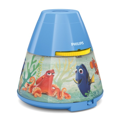 Philips 71769/90/16 - LED Detský projektor DISNEY DORY LED/0,1W/3xAAA