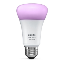 Philips 8718696592984 - LED Žárovka stmievateľná HUE WHITE AND COLOR AMBIANCE 1xE27/10W/230V