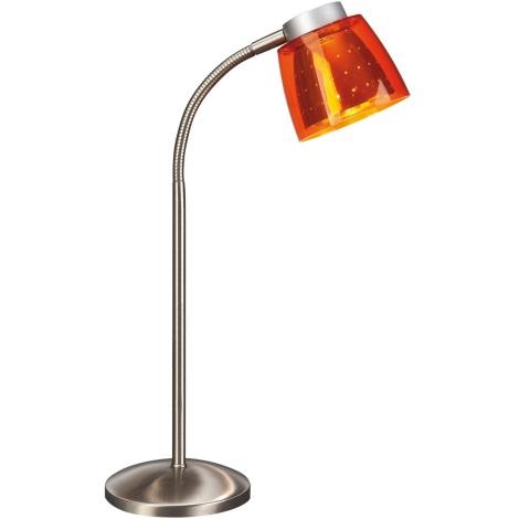 Philips Bright light 67110/53/15 - Stolné svietidlo 1xG9/40W/230V oranžová