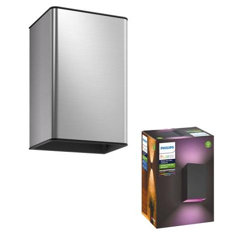 Philips - LED RGB Vonkajšie svietidlo 2xLED/8W/230V IP44