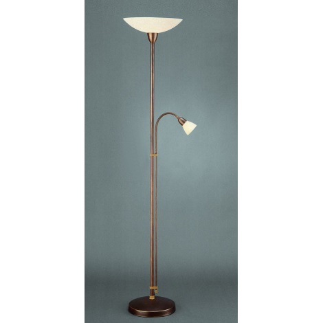 Philips Massive 09297/02/43 - Stmievateľná stojaca lampa DIACONUS 1xE27/150W+1xE14/40W