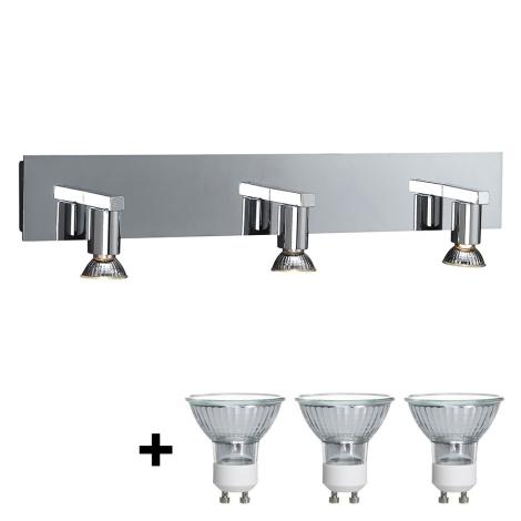 Philips Massive 34027/11/10 - Kúpeľňové nástenné svietidlo HORIZON 3xGU10/50W/230V
