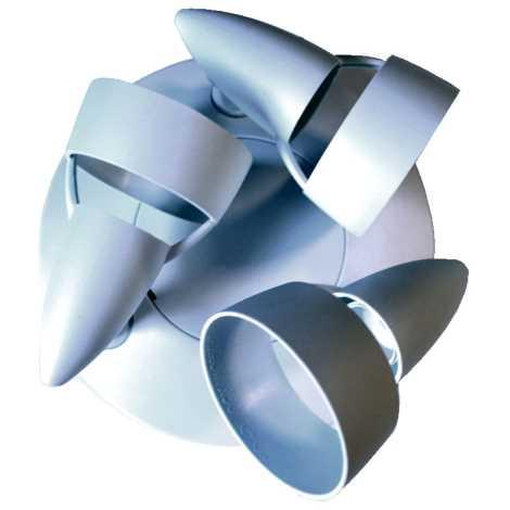 Philips Massive 345774 - Bodové svietidlo Plafond 3xE14/40W plast biela