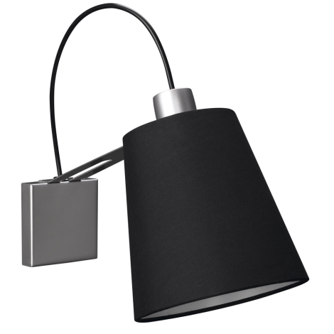 Philips Massive 45568/48/10 - Nástenné svietidlo GAUSS 1xE14/40W/230V čierna
