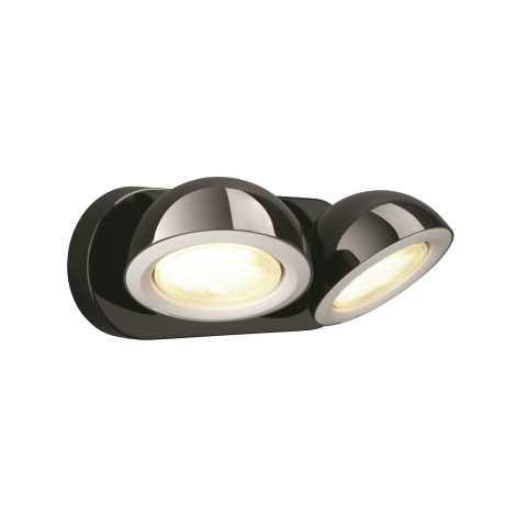 Philips Massive 53122/30/10 - Bodové svietidlo LEN 2XGX53/9W čierna