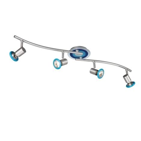 Philips Massive 54438/35/10 - Bodové svietidlo FOXY 4xGU10/50W modrá