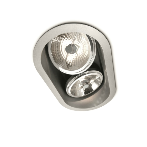 Philips Massive 57976/48/81 - Kúpeľňové podhľadové svietidlo BELFAST 2xG53/35W/230V