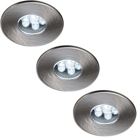 Philips Massive 59023/17/10 - SADA 3x LED podhľadové svietidlo ATTIKI 3xLED/0,36W/12V