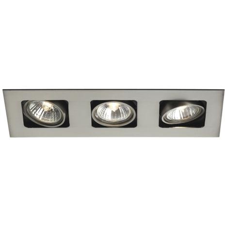 Philips Massive 59303/17/10 - Kúpeľňové podhľadové svietidlo ARTEMIS 3xGU10/50W/230V