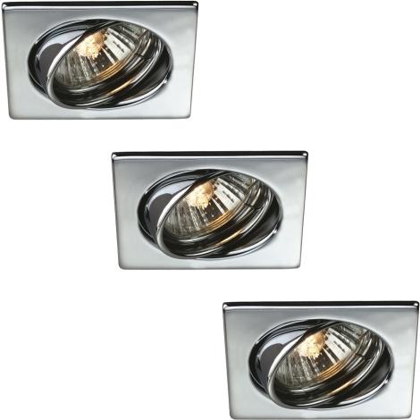 Philips Massive 59323/11/10 - SADA 3x Kúpeľňové podhľadové svietidlo QUARTZ 1xGU10/50W/230V