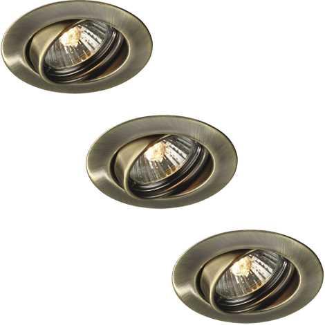 Philips Massive 59333/06/10 - SADA 3x Kúpeľňové podhľadové svietidlo OPAL 1xGU10/50W/230V bronzová