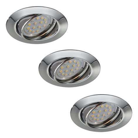 Philips Massive 59333/11/10 - SADA 3x LED kúpeľňové podhľadové svietidlo OPAL 3xGU10/3W/230V + žárovky 3xGU10/50W ZDARMA