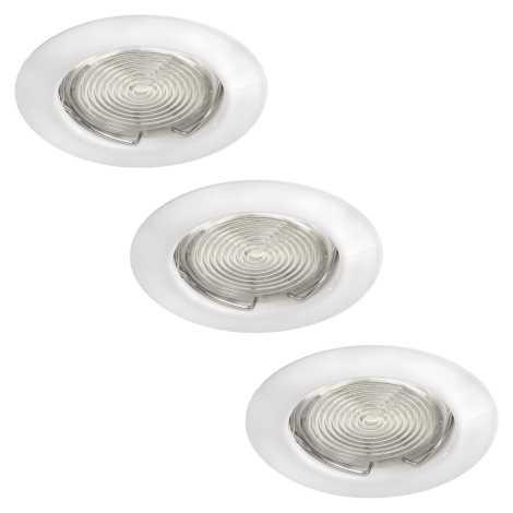 Philips Massive 59383/31/19 - SADA 3x LED podhľadové svietidlo FREA 3xGU10/3W/230V + 3xGU10/7W