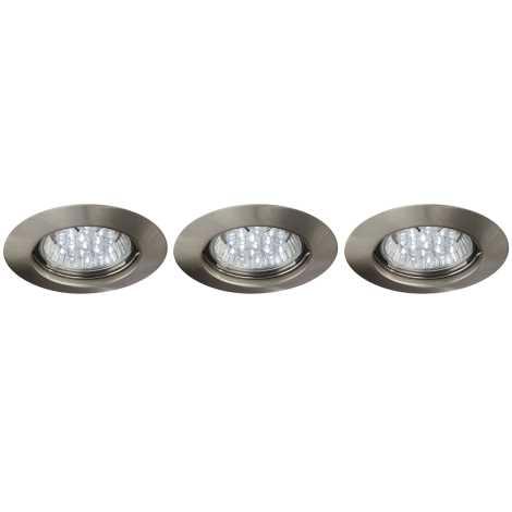 Philips Massive 59453/17/10 - SADA 3x LED kúpeľňové podhľadové svietidlo SPARK 3xLED/1,5W/230V
