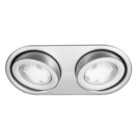 Philips Massive 59602/48/10 - Kúpeľňové podhľadové svietidlo MONO 2xGX53/9W/230V hliník