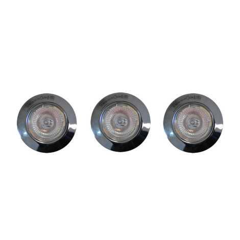 Philips Massive 59633/11/19 - SADA 3x Kúpeľňové podhľadové svietidlo 1xGU5,3/20W/12V