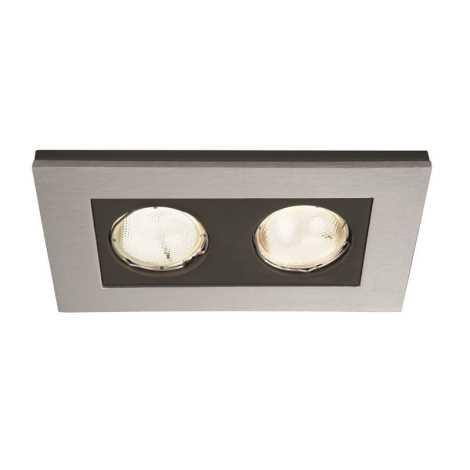Philips Massive 59652/48/10 - Kúpeľňové podhľadové svietidlo HEKA 2xGU10/10W/230V hliník