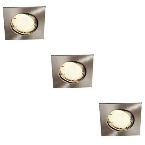 Philips Massive 59733/17/10 - SADA 3x kúpeľňové podhľadové svietidlo ZARO 3xGU10/10W/230V