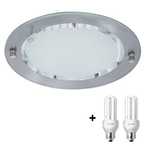 Philips Massive 59790/17/10 - VOLCAN Downlight 2xE27/14W/230V