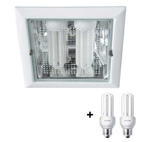 Philips Massive 59796/31/10 - VETA Downlight 2xE27/14W/230V biela