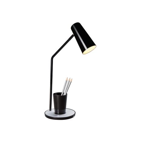 Philips Massive 66625/30/10 - Stolná lampa JASON 1xE14/12W čierna