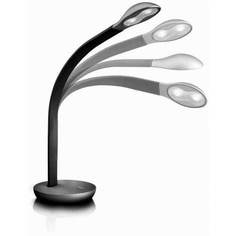 Philips Massive 66706/30/10 - Stolná LED lampa NATHAN 2xLED/2,5W/230V čierna