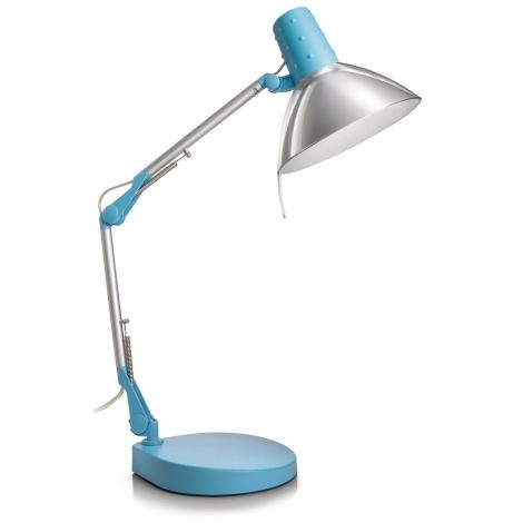 Philips Massive 67200/35/10 - Stolná lampa STUDIO 1xE14/40W modrá