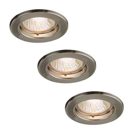 Philips Massive 72813/23/17 - SADA 3x Kúpeľňové podhľadové svietidlo LEONIS 1xGU10/50W/230V