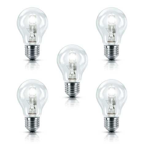 Philips - SADA 5x Halogénová žiarovka E27/28W/230V EcoClassic A55