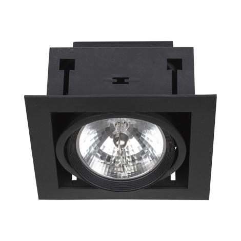 Podhľadové svietidlo DOWNLIGHT BLACK 1xAR111/50W/12V