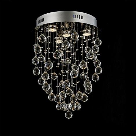 Prezent 64319 - Krištáľové stropné svietidlo TWISTER 4xGU10/50W/230V