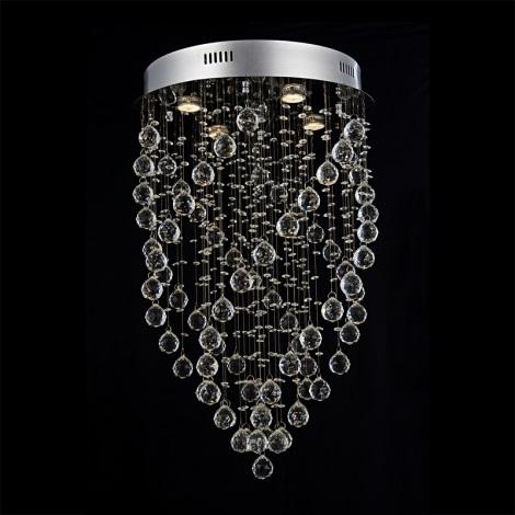 Prezent 64320 - Krištáľové stropné svietidlo TWISTER 5xGU10/50W/230V