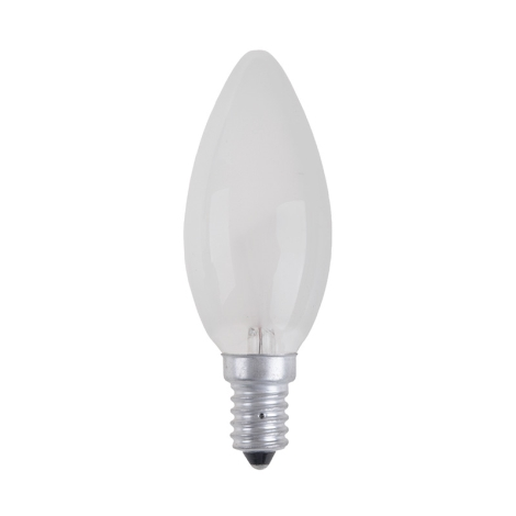 Priemyselná žiarovka CANDLE FROSTED E14/40W/230V
