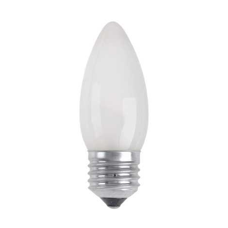 Priemyselná žiarovka CANDLE FROSTED E27/25W/230V