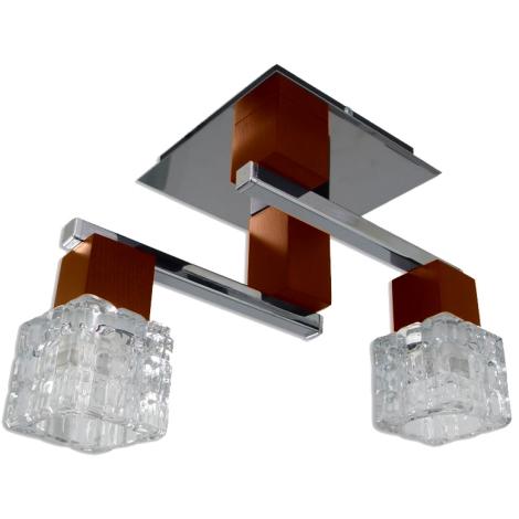 Prisadený luster RIVA 2xE14/40W čerešňa