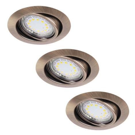 Rabalux 1051 - SADA 3x LED podhľadové svietidlo LITE 3xGU10-LED/3W/230V