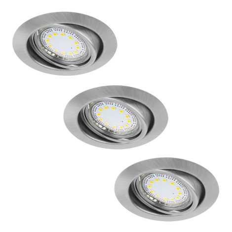 Rabalux 1166 - SADA 3x LED podhľadové svietidlo LITE 3xGU10-LED/3W/230V