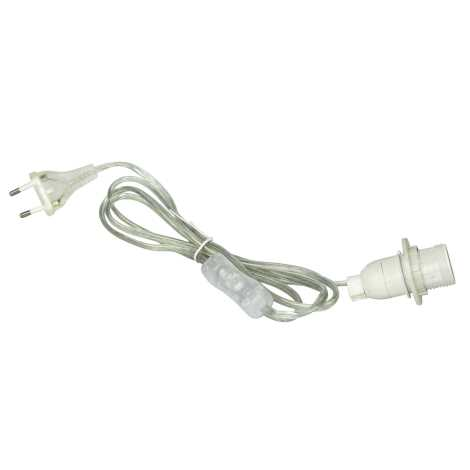 Rabalux 1333 - Napájací kábel s vypínačom CABLE 1xE14/40W/230V