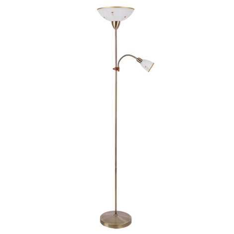 Rabalux 4009 - Stojaca lampa ART FLOWER 1xE27/60W/+ 1xE14/40W
