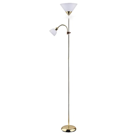 Rabalux 4060 - Stojaca lampa ACTION 1xE27/100W + E14/25W