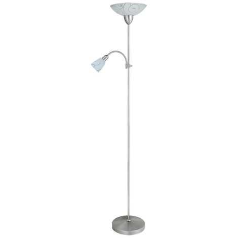 Rabalux 4091 - Stojaca lampa HARMONY LUX 1xE27/100W + 1xE14/40W