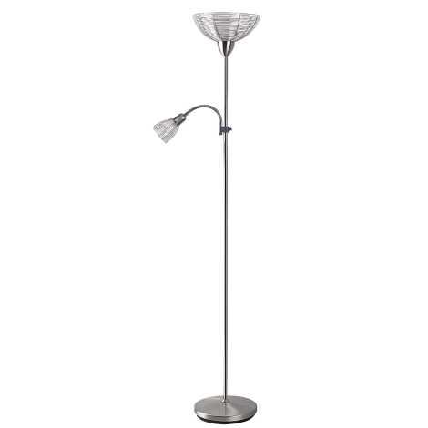 Rabalux 4183 - Stojacia lampa EZRA E27/G45/60W + E14/40W