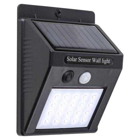Rabalux 7933 - LED Vonkajšie solárne svietidlo so senzorom OSTRAVA LED/2W/230V IP65