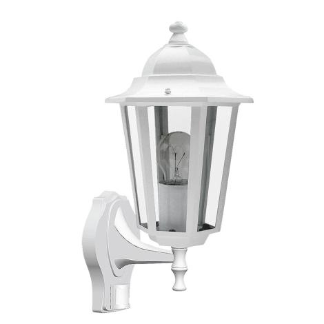 Rabalux 8216 - Vonkajšie nástenné svietidlo s čidlom VELENCE 1xE27/60W/230V