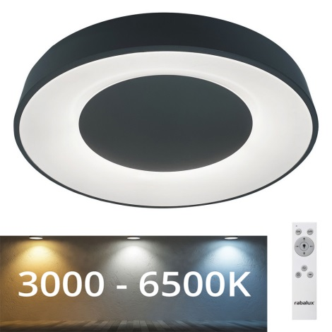 Rabalux - LED Stmievateľné stropné svietidlo LED/38W/230V čierna 3000-6500K + DO