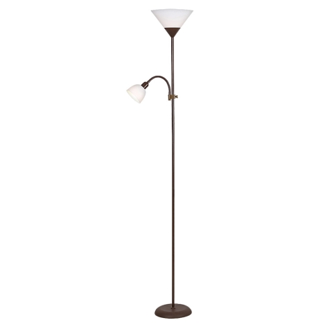 Rabalux - Stojacia lampa 1xE27/100W+1xE14/25W/230V hnedá