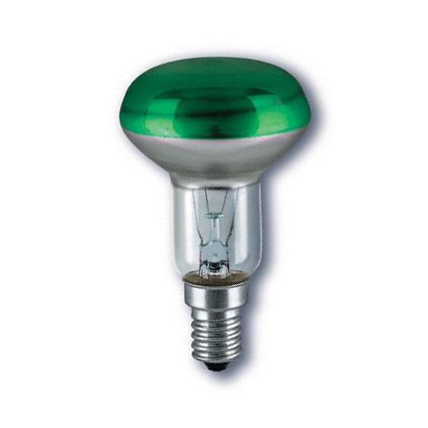 Reflektorová žiarovka E14/40W CONC R50 GREEN