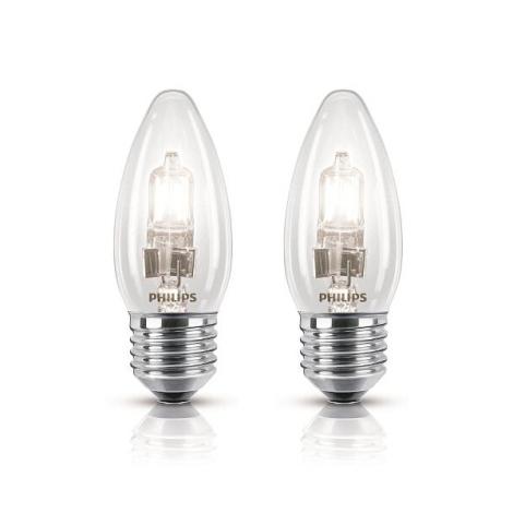 SADA 2x Halogénová žiarovka Philips E27/42W/230V - ECO CLASSIC